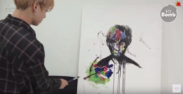 絵を描くジョングク